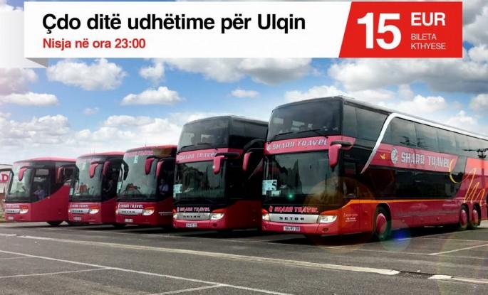 Linja e rregullt Prishtinë - Ulqin - Prishtinë