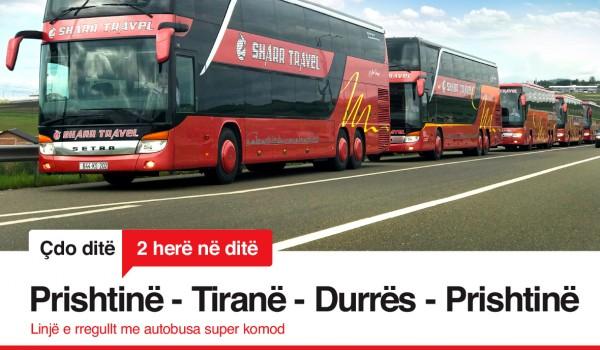 Linja e rregullt Prishtinë - Tiranë - Durrës - Prishtinë